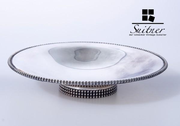 Mid-Century-Modern Silber-Fußschale