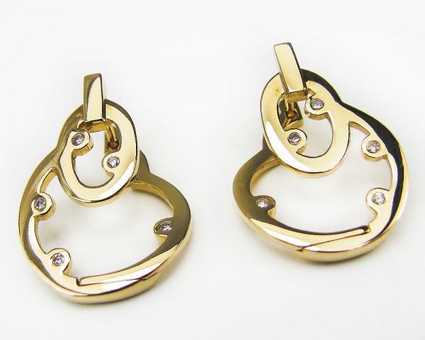 Jette Joop Ohrringe 750 Gold mit Brillanten wertvoller Designer Schmuck
