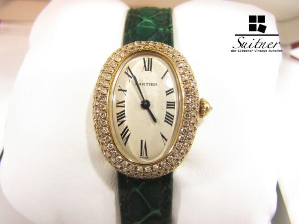 Seltene Cartier Baignoire 750 Gold Brillanten mit Box und Zertifikat