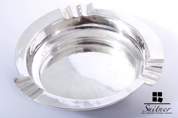 Art Deko Deco Aschenbecher Hammerschlag Optik 835 Silber