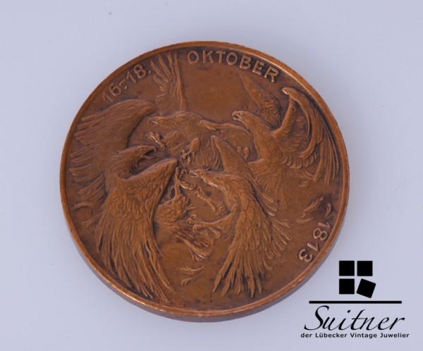 Medaille Völkerschlacht Leipzig 1913 Patriotenbund VZ