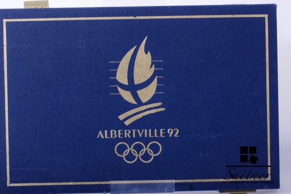 Frankreich 1990, PP Albertville 92 9x 100 France 1x Cook Island 10 Dollar