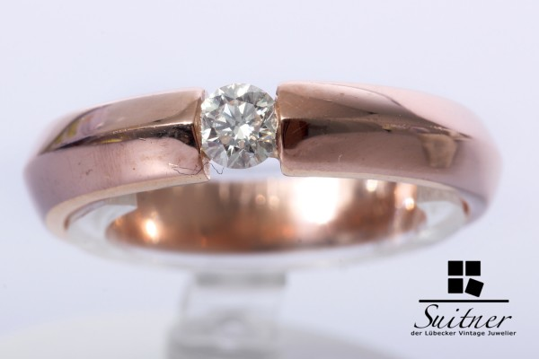 Spannring 0,20ct Brillant Ring aus 585 Roségold Gr. 56 Rosé Gold