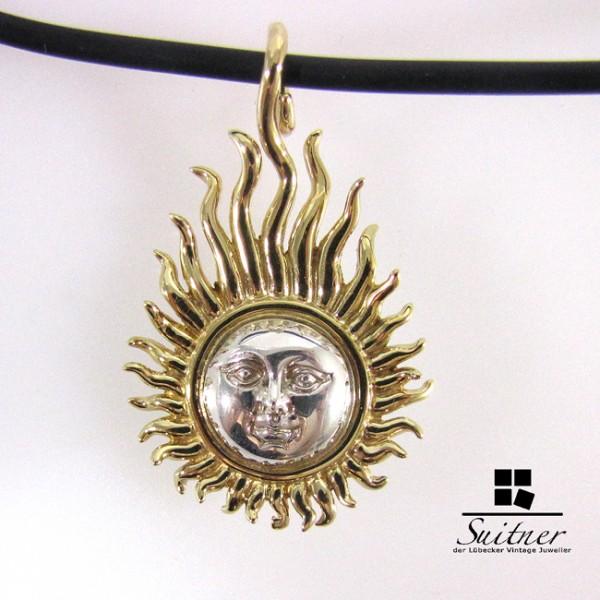 Sergio Bustamante Kette Sonne Sun Silber vergoldet aus Mexico