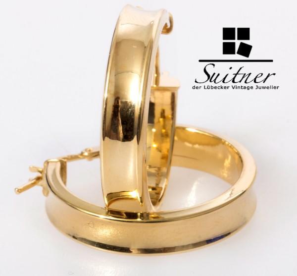 klassische XL Creolen aus Gold - Gelbgold neuwertig Ohrringe