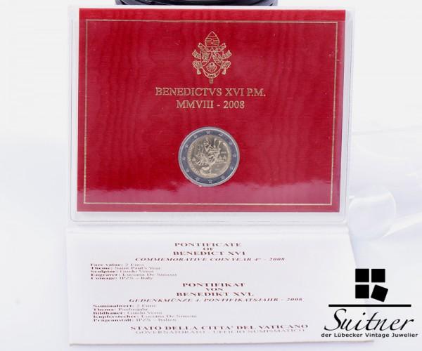 2 € Vatican 2008 Original Verpackung in Blister Euro