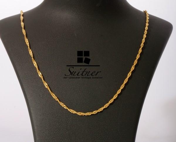 Kordelkette modern aus 375 Gold Länge 42 cm - neuwertig