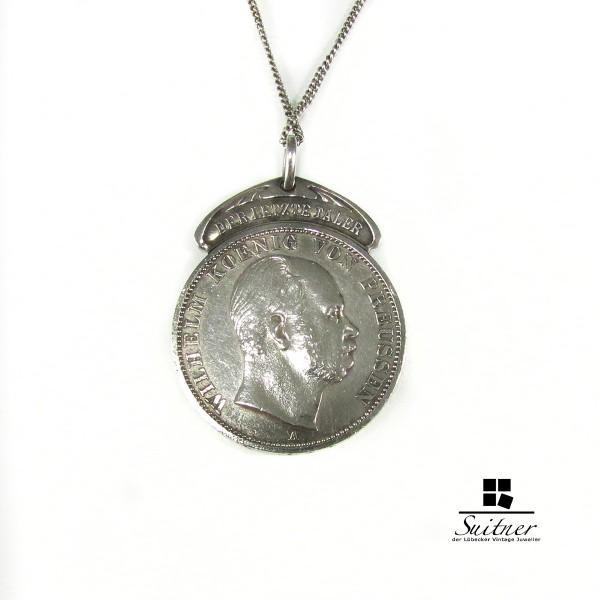 Vereinsthaler Taler Wilhelm I. Preussen 1866 A 1 Pfund fein Anhänger