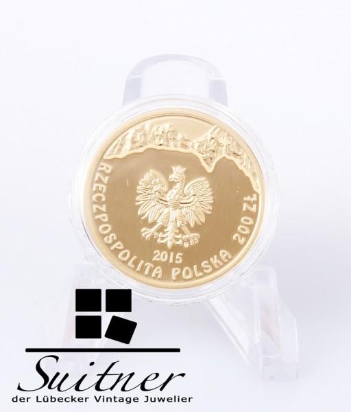 200 Zloty Gold 150th Anniversary Przerwa-Tetmajer mit Zertifikat selten