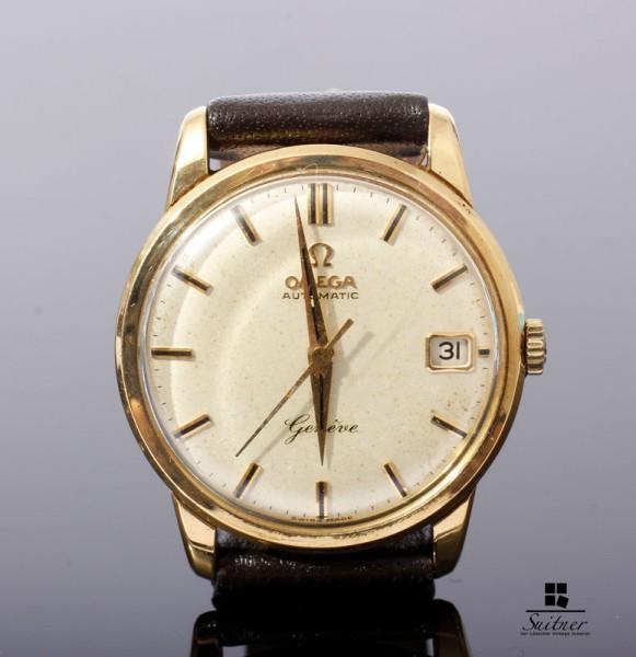 Omega Geneve Automatik 750 Gold Kaliber 562 Date Bj. 1961 18k Vintage