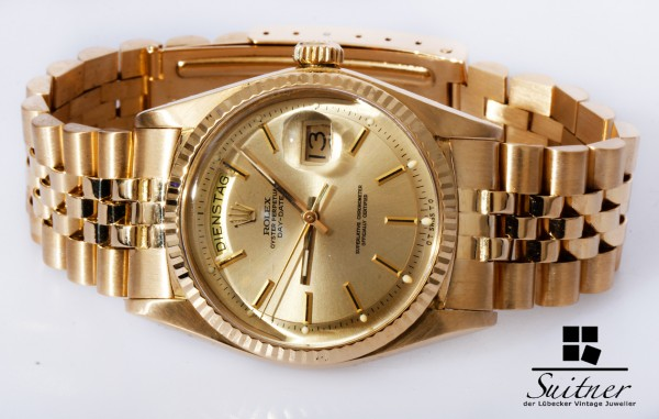 Rolex Day-Date 1803 mit Sigma Dial 750 Gold - extrem selten Bj 1972 Jubilee TOP