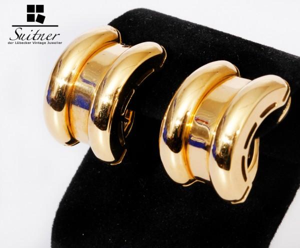 Chopard la Strada Ohrclips 750 Gold - massive Luxus Ohrringe Clips