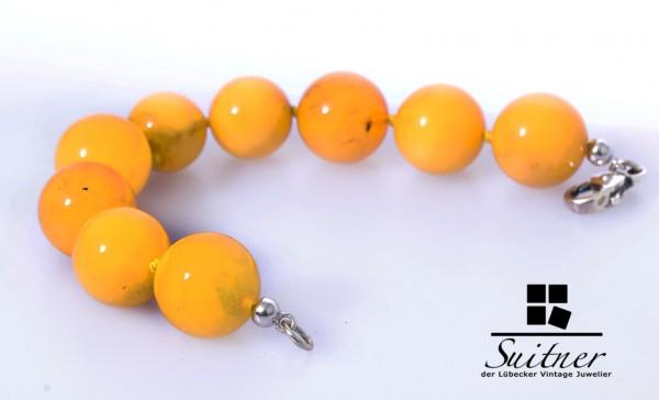 Butterscotch Bernstein Armband Kugel 925 Silber Prayer Beads