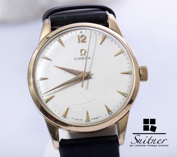 Omega Classic Caliber 283 Gold weißes Zifferblatt 2498-4
