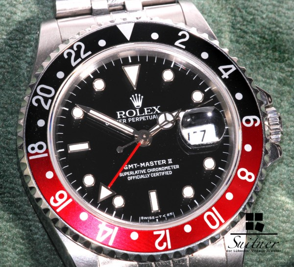 Rolex GMT Master 2 16710 1990 mit Box Unterlagen L Serie TOP Coke