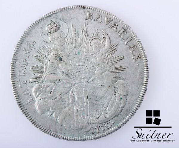Madonnentaler 1770 Bayern VZ-SS Patina Thaler Bavaria selten