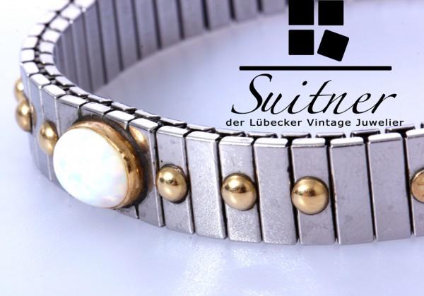 Nomination Extension Armband mit Gold und weißem Opal