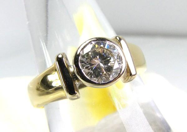 lupenreiner 1,00ct. Brillant Ring 750 Gold Solitär mit Gutachten über 14.500 Euro Einkaräter