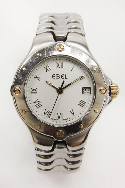 sportliche Ebel Sport Wave Lady Stahl Gold Armbanduhr Medium Size