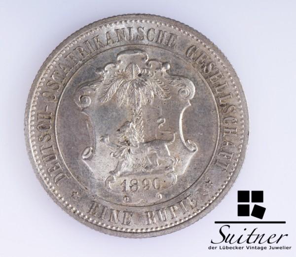 Deutsch Ostafrikanische Gesellschaft 1890 1 Rupie Stempelglanz Kolonie selten