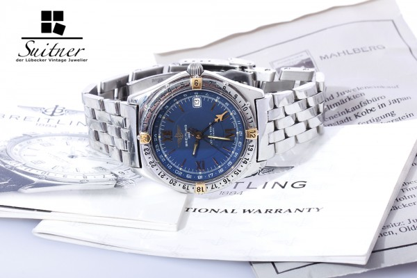 Breitling Antares World mit Stahlband Ref. B32047
