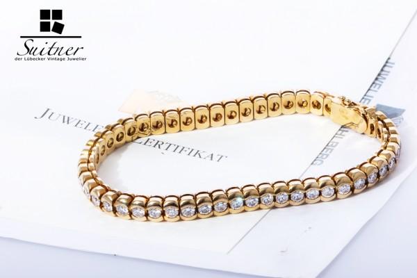 Tennis-Armband Brillanten ca. 5,03 ct. 750 Gold NP 14400 €