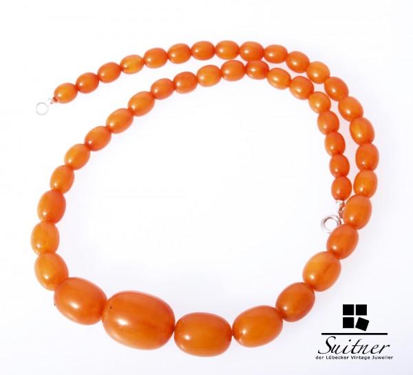 große Butterscotch Kette real Amber Olive Prayer Beads 琥珀