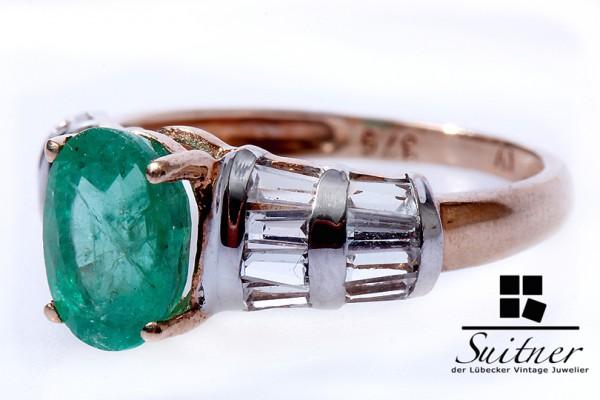 Harry Ivens Smaragd Ring 375 Gelbgold Gr. 50