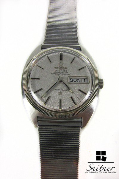 Omega Constellation Day Date Vintage 1969 Cal. 751 168.029 Automatik Weißgold Stahl