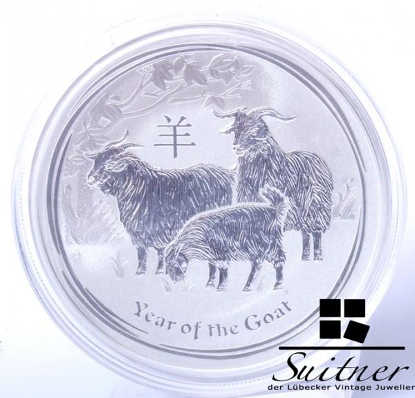 Australien 1 Dollar 1 Oz 999 Silber 2015 PP Year of the Goat