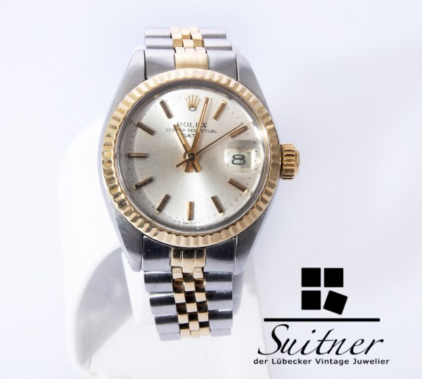 Rolex Lady Date Datejust Ref. 6917 Stahl Gold an Jubile Armband 1977 Jahr