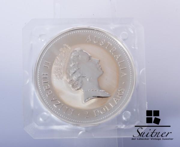 Australien 2 Dollar 1994 PP Kookaburra 2 Unzen seltene Silber