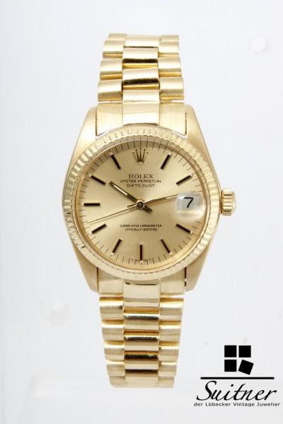 Rolex Datejust Medium Automatik Ref 6827 750 Gold Bj 1978 Vintage