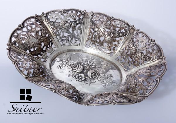 Feine Durchbruchschale aus 800er Silber
