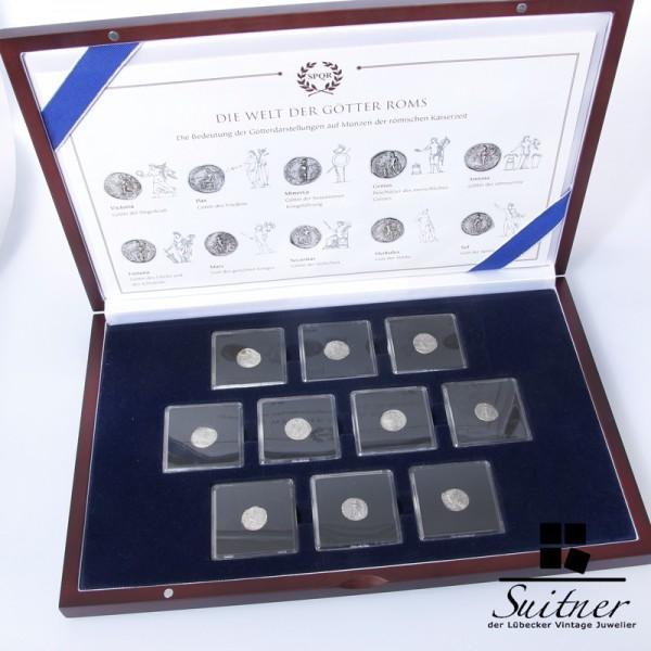 Sammlung römische Münzen 10 Münzen Silber Selten gute Erhaltung Rom antik