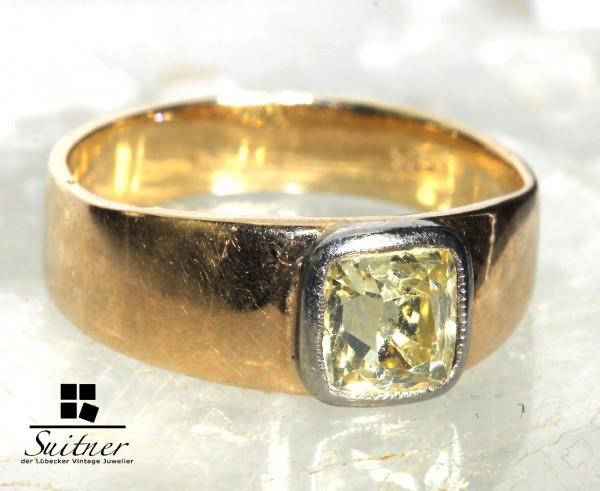 Ring mit großem gelben Diamanten Fancy Yellow