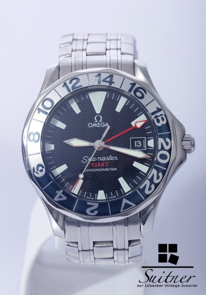 Omega Seamaster 50th Years GMT Automatik Ref. 2534.50.00 Stahl