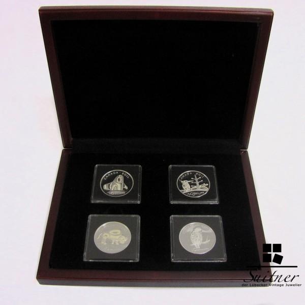 Kanada 2011 4 x 10 Dollar 1/2 Oz Silber PP Set Wanderfalke Bison Orkan Borrealer Nadelwald