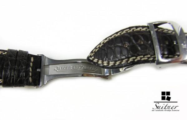 Jaeger LeCoultre Kroko Armband dunkelbraun 21 mm mit Faltschließe NOS/NEU
