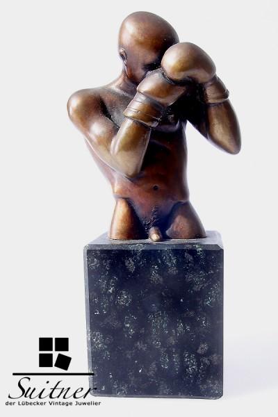 """Bruno Bruni """"Der Boxer"""" limitiert 480 Stück Bronze Statue"""