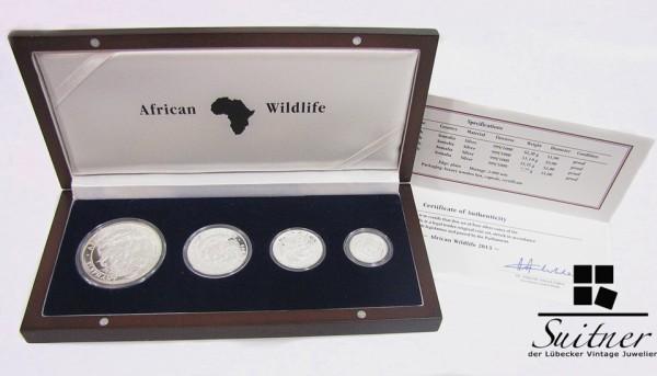 African Wildlife Somalia kompl. Ausgabe in Schatulle Zertifikat 3,75 Oz