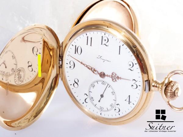1a Longines Savonette 750 Gold um 1900 Kal. 19.74N