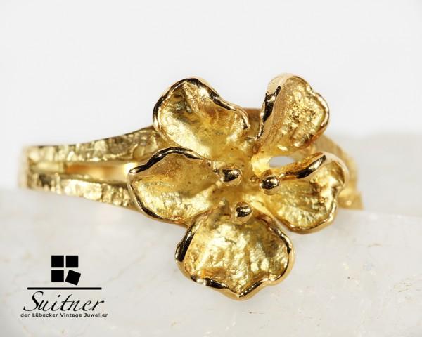 Blumenring aus 750 Gold von Ghia