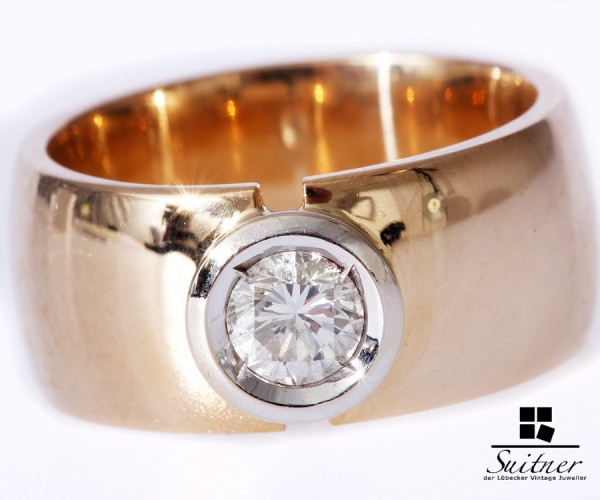 Massiver Brillant Ring 0,50ct vvsi 585 Gold XXL Luxusring