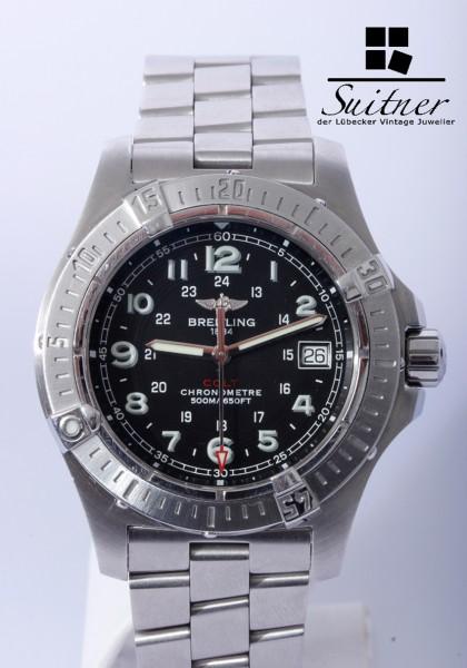Breitling Colt Chronometer Stahl Zifferblatt schwarz A74380