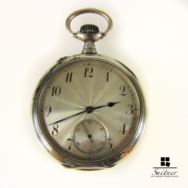 IWC Taschenuhr Mod. Deposé 800er Silber Kal. 52 ca. 1905