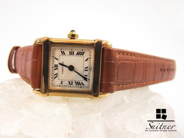 seltene Cartier Tank CHINOISE 750 Gold 18kt Gold - Rarität