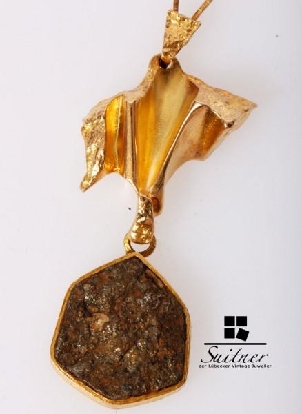 Original Lapponia Kette Pyrit Collier 1981 D8 585 Gold Weckström Design