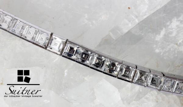 11,21ct Tennisarmband Lupenrein 750 Weißgold 54 Diamanten Luxus pur