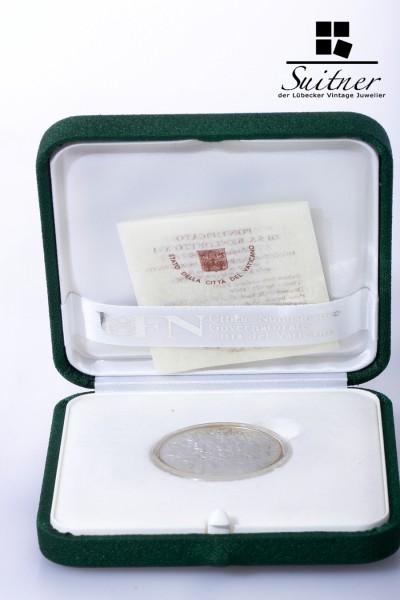 Vatikan Benedikt 60 Jahre Kriegsende 2005 Silber 5 Euro im Etui und Zertifikat